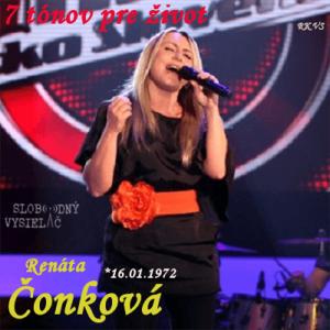 7 tónov pre život…Renáta Čonková