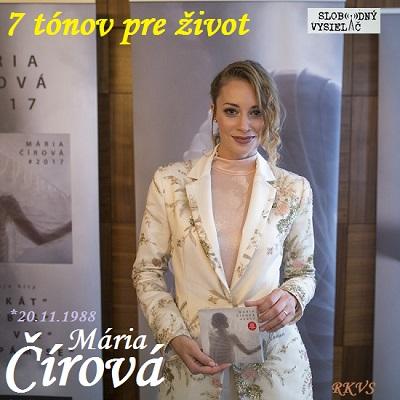 7 tónov pre život…Mária Čírová