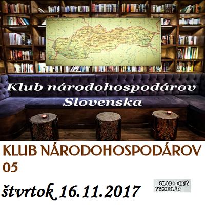 Klub národohospodárov Slovenska 05 (repríza)