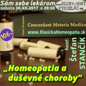 Sám sebe lekárom 106 (Homeopatia a duševné choroby)