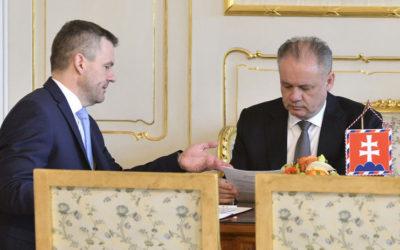 Kiska vymenuje Pellegriniho za premiéra a akceptuje jeho návrh vlády.