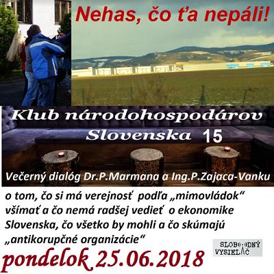 Klub národohospodárov Slovenska 15