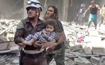 USA so spojencami zvažujú plány na evakuáciu bielych prílb zo Sýrie.