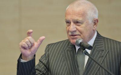 Klaus: V dnešnej dobe chcú skupinové záujmy menšín ovládnuť vôľu väčšiny.