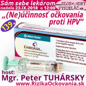 Sám sebe lekárom 139 ((Ne)účinnosť očkovania proti HPV)
