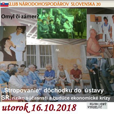 Klub národohospodárov Slovenska 20