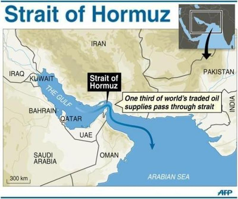 Irán hrozí zavretím Hormuzského prieplavu, ak USA zablokujú vývoz jeho ropy. 1