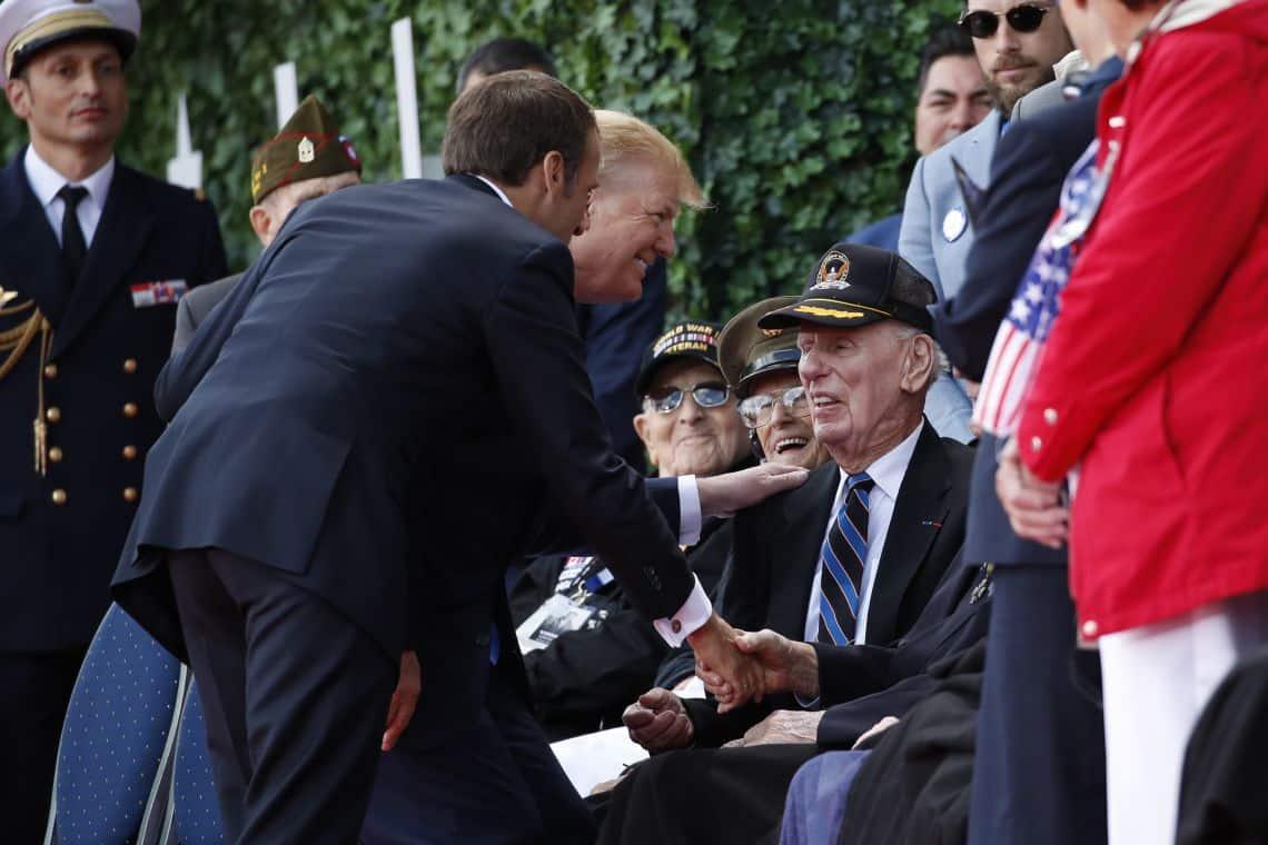 Lídri Západu si uctili Deň D, Macron ďakoval Československu, 1