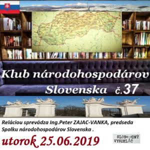 Klub národohospodárov Slovenska 37 1