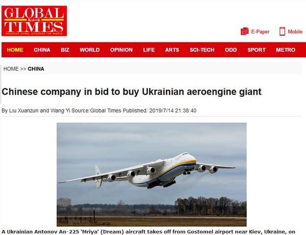 Ukrajina predá Číne všetko, čo sa dá, aj napriek protestom USA. 1