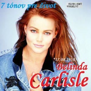 7 tónov pre život…Belinda Carlisle 1