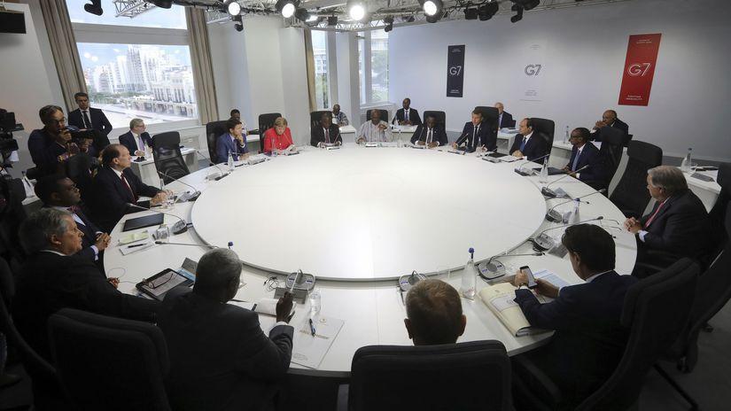 Zaríf nečakane navštívil miesto konania summitu G7. 1