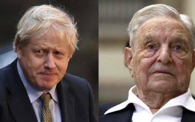 """Konečne sa začína riešiť podstata problému. Boris Johnson začne vyšetrovanie proti Georgovi Sorosovi. Soros ovplyvňoval britské voľby a """"vzdelával"""" britskú verejnosť ako voliť proti Brexitu."""