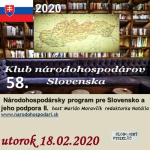 Klub národohospodárov Slovenska 58