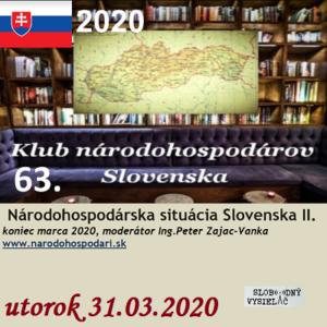 Klub národohospodárov Slovenska 63