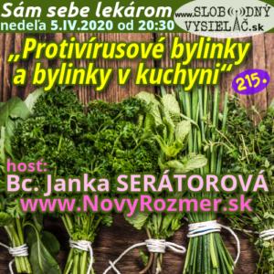Sám sebe lekárom 215 (Protivírusové bylinky a bylinky v kuchyni) repríza