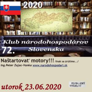 Klub národohospodárov Slovenska 72