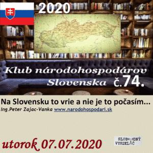 Klub národohospodárov Slovenska 74 (repríza)
