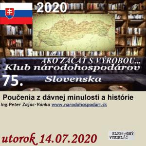 Klub národohospodárov Slovenska 75 - časť 2