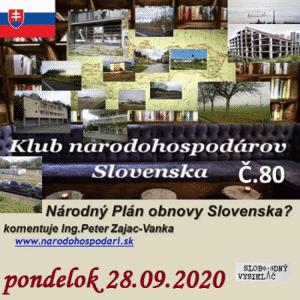 Klub národohospodárov Slovenska 80