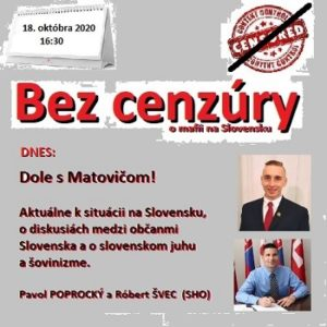Bez cenzúry 15/2020 (repríza)