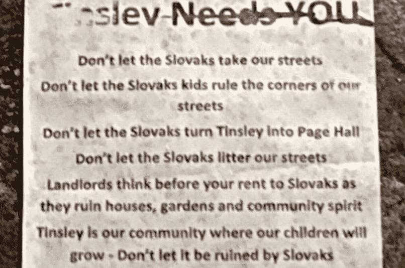 Preč so Slovákmi: V anglickom Sheffielde broja proti Rómom zo Slovenska. 1