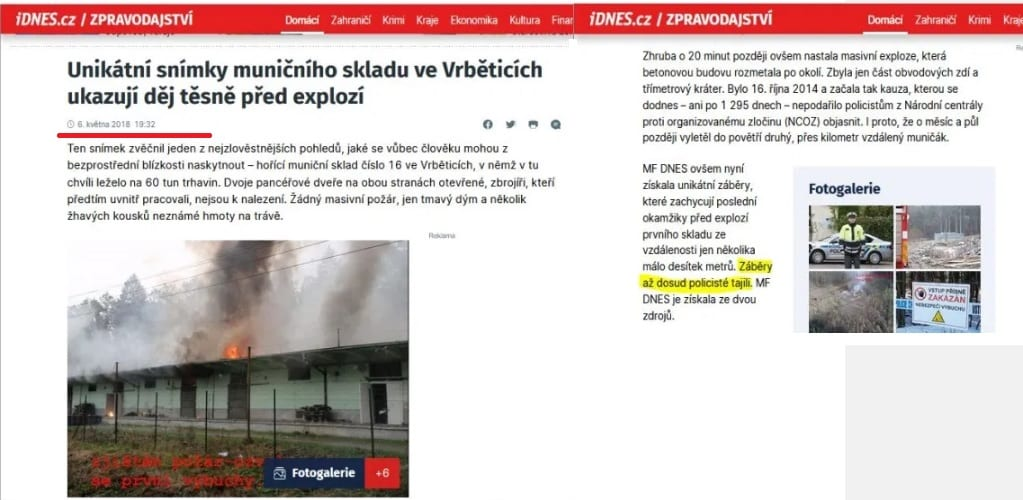 Niečo tu nesedí. Prečo to nevybuchlo hneď? Fotografia a informácie od hasičov hovoria o počiatočnom požiari. Až o 20 minút nastal výbuch. 1