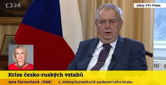 Neexistují důkazy, že za výbuch ve Vrběticích může ruská GRU, řekl Zeman. 1