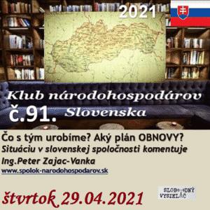 Klub národohospodárov Slovenska 91