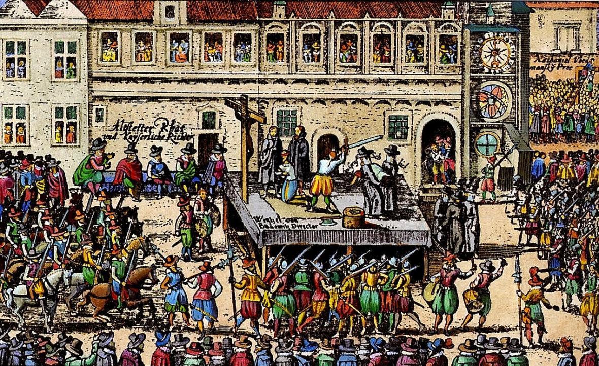 Krutá tečka za povstáním stavů. Před 400 lety popravili 27 českých pánů na Staroměstském náměstí. 1