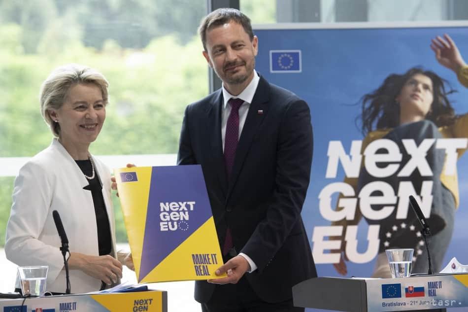 Slovenský plán obnovy má zelenú, oznámila šéfka Európskej komisie. 1
