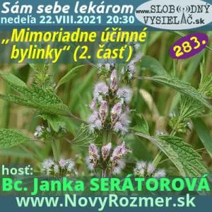 Sám sebe lekárom 283 (Mimoriadneúčinné bylinky) 2. časť (repríza)
