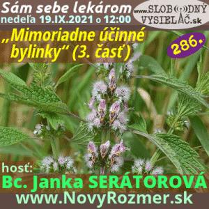 Sám sebe lekárom 286 (Mimoriadne účinné bylinky) 3. časť (repríza)